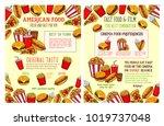 fast food restaurant and burger ... | Shutterstock .eps vector #1019737048