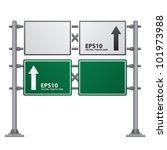 road sign green color vector | Shutterstock .eps vector #101973988