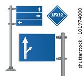 Road Sign Blue Color Vector