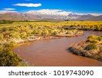 rio grande river flowing... | Shutterstock . vector #1019743090