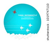 think different business... | Shutterstock .eps vector #1019747110