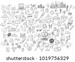 vector illustration of business ... | Shutterstock .eps vector #1019756329