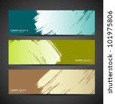 Paint brush banner colorful background. vector illustration