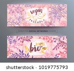 vector templates with floral... | Shutterstock .eps vector #1019775793