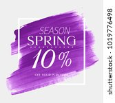 spring sale 10  off sign over... | Shutterstock .eps vector #1019776498