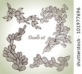 doodle set. hand drawn abstract ...   Shutterstock .eps vector #101977696