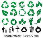 vector recycle signs | Shutterstock .eps vector #101977708