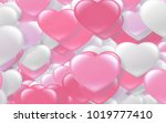red and pink heart. valentine's ... | Shutterstock . vector #1019777410