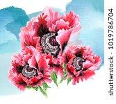 flower arrangement  set of... | Shutterstock . vector #1019786704