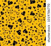 cute heart pattern for kids ... | Shutterstock .eps vector #1019786770