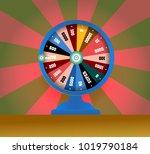 spinning fortune wheel  lucky... | Shutterstock .eps vector #1019790184
