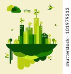go green city. industry... | Shutterstock .eps vector #101979313