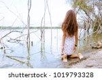 sexy girl in dress on a beach... | Shutterstock . vector #1019793328
