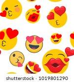 cute seamless pattern of...   Shutterstock .eps vector #1019801290