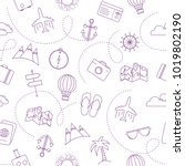 travel seamless pattern with... | Shutterstock .eps vector #1019802190