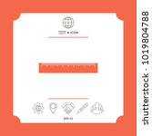 the ruler icon | Shutterstock .eps vector #1019804788