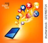 stylish conceptual social... | Shutterstock .eps vector #101980714