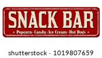 snack bar vintage rusty metal... | Shutterstock .eps vector #1019807659