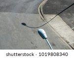 streetlamp and shadow | Shutterstock . vector #1019808340