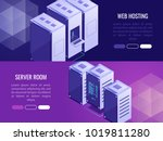 set of 2 vertical headers with... | Shutterstock .eps vector #1019811280