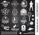 set of tennis club badges with... | Shutterstock .eps vector #1019820814