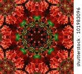 red and green mandala star | Shutterstock . vector #101983096