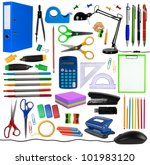 office objects isolated on... | Shutterstock . vector #101983120