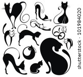 black cat | Shutterstock .eps vector #101984020