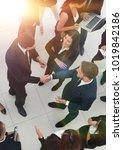 handshake business partners...   Shutterstock . vector #1019842186