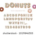 donuts hand drawn decorative... | Shutterstock .eps vector #1019846503
