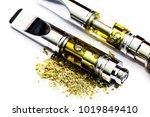 vaping  marijuana cannabis vape ... | Shutterstock . vector #1019849410