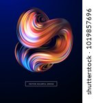 3d abstract colorful fluid... | Shutterstock .eps vector #1019857696