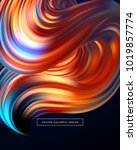 3d abstract colorful fluid... | Shutterstock .eps vector #1019857774