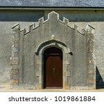 medieval church door.   Shutterstock . vector #1019861884