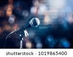 microphone on a stand up comedy ... | Shutterstock . vector #1019865400