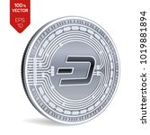 dash. crypto currency. 3d... | Shutterstock .eps vector #1019881894