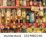 editorial use only  whiskey and ...   Shutterstock . vector #1019882140