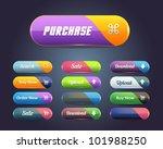 web elements vector button set | Shutterstock .eps vector #101988250
