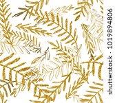 vector seamless tropical...   Shutterstock .eps vector #1019894806