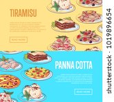 italian sweet menu flyers with... | Shutterstock .eps vector #1019896654