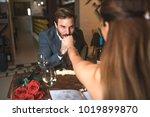 gentleman  handsome guy  with... | Shutterstock . vector #1019899870