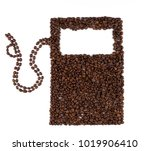 coffee beans in the form of... | Shutterstock . vector #1019906410