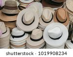 variety hat in the hat shop... | Shutterstock . vector #1019908234