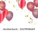 balloons  vector illustration.... | Shutterstock .eps vector #1019908669