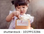 children with donation concept. ... | Shutterstock . vector #1019913286
