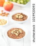 chocolate oatmeal or oat... | Shutterstock . vector #1019920093