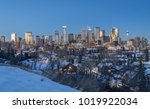 calgary downtown skyline at... | Shutterstock . vector #1019922034