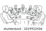 smart business leadership... | Shutterstock .eps vector #1019922436
