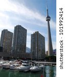 Toronto Waterfront in Canada - stock photo
