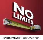no limits measuring tape... | Shutterstock . vector #1019924704